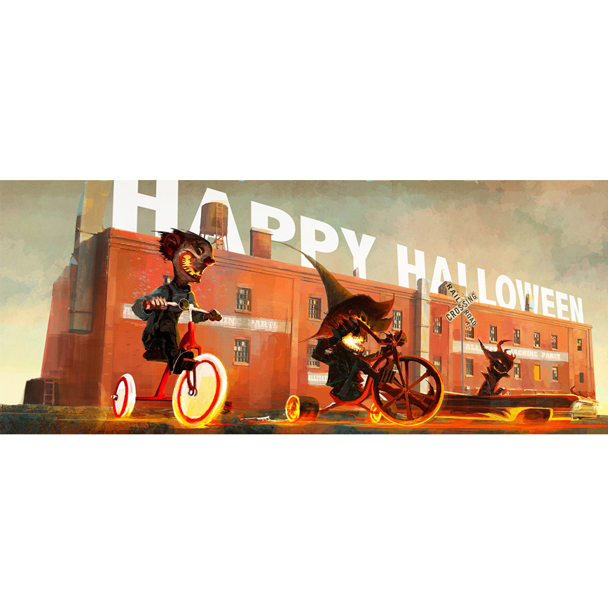 low res happy halloween